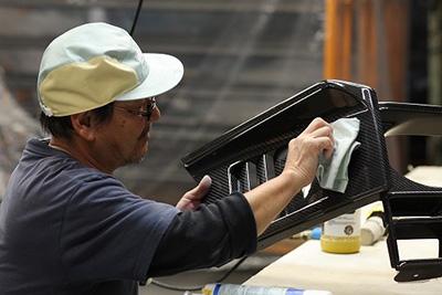 多種多様な樹脂素材への塗装対応可能
